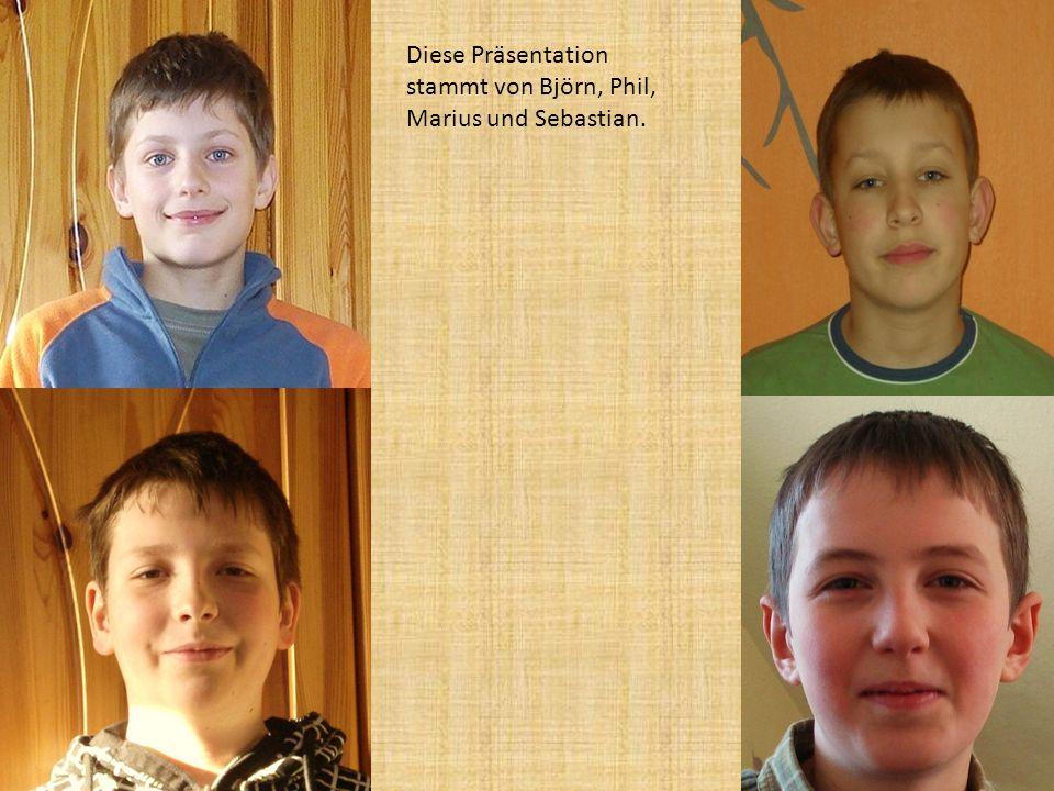 Diese Präsentation stammt von Björn, Phil, Marius und Sebastian.