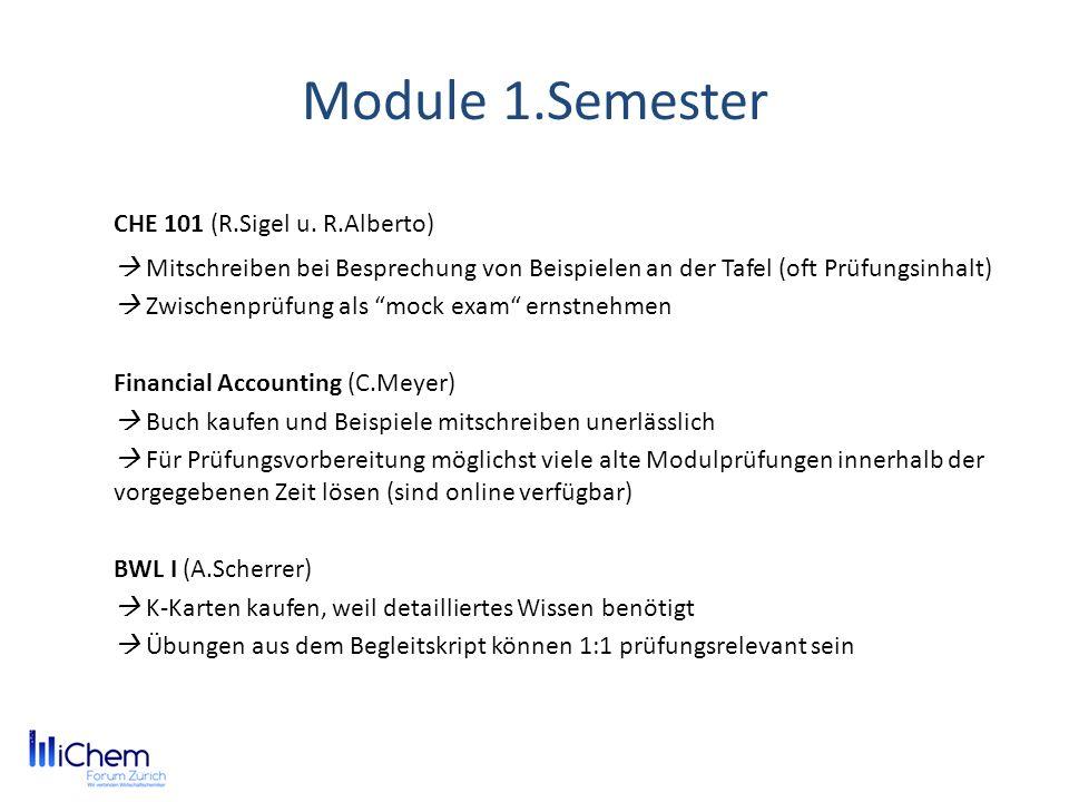 Module 1.Semester CHE 101 (R.Sigel u.