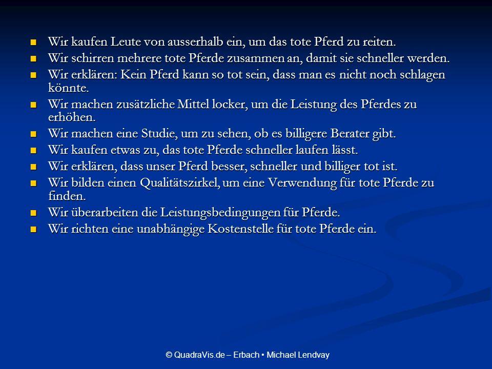 © QuadraVis.de – Erbach Michael Lendvay Doch wir Manager entwickeln stetig weitere Strategien um Konsequenzen zu verschleppen.
