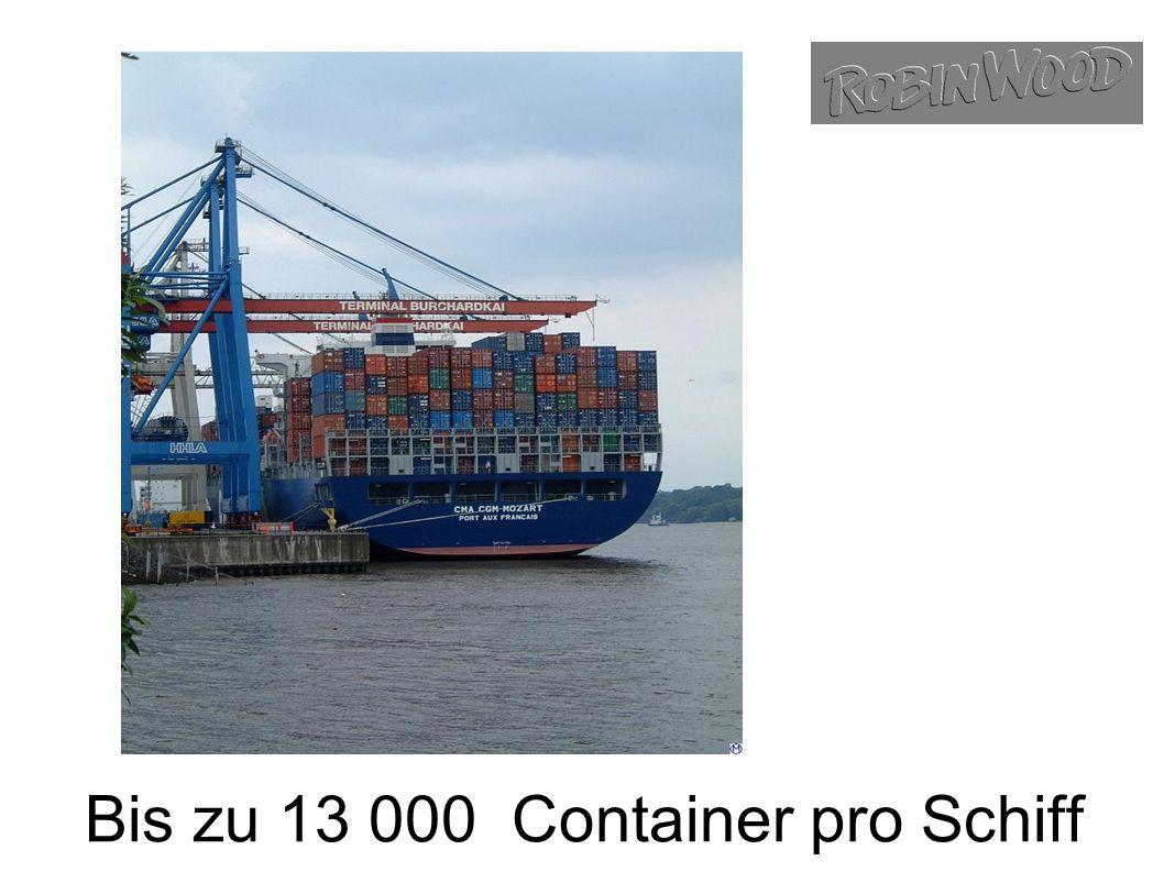 Bis zu 13 000 Container pro Schiff