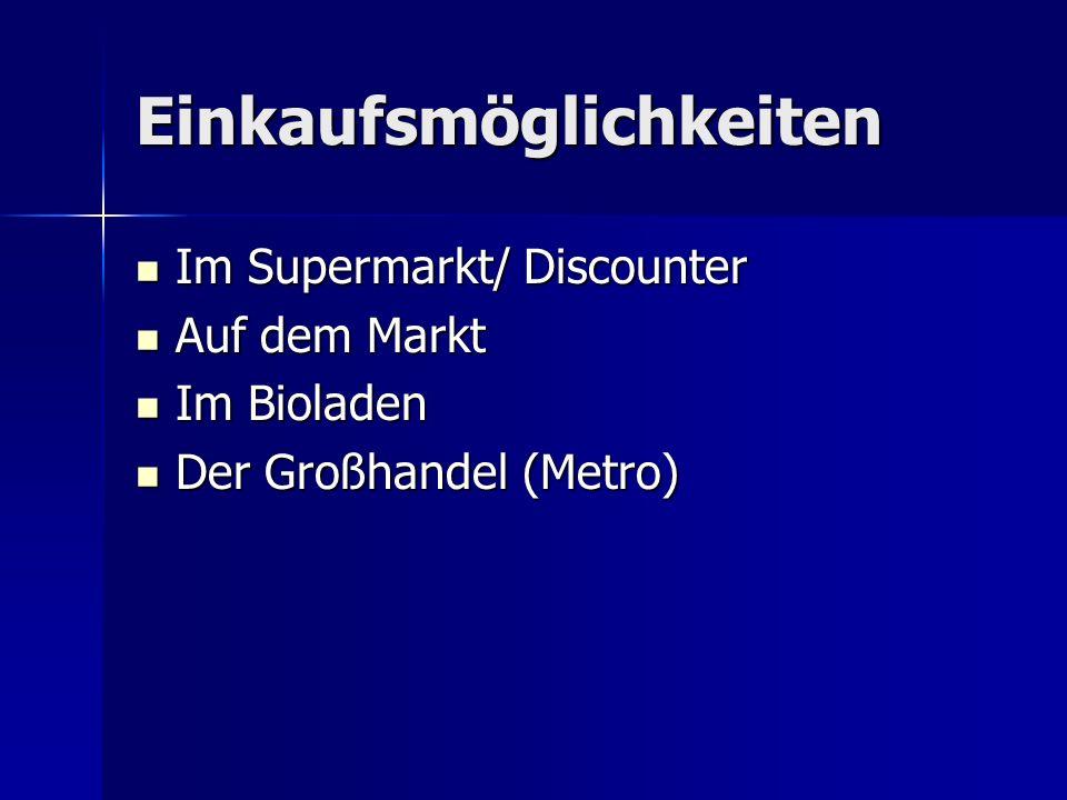 Supermärkte in Deutschland Aldi Aldi Lidl Lidl Penny Markt Penny Markt Netto/ Plus Netto/ Plus Kaufland Kaufland