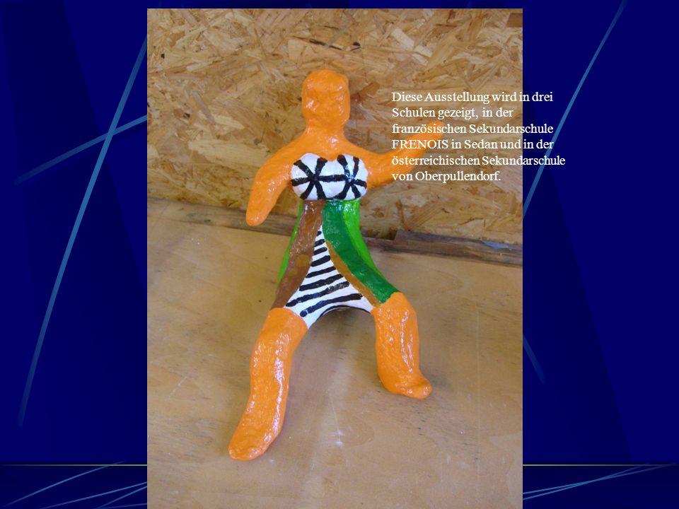 Danach haben wir Kunst. Zur Zeit basteln wir Clowns für die Ausstellung des Comenius- Projekts.