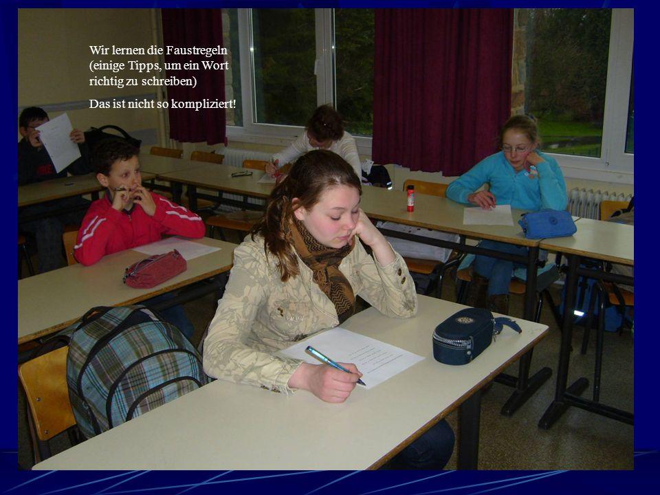Wieder Deutsch! Immer noch im Klassenraum 203