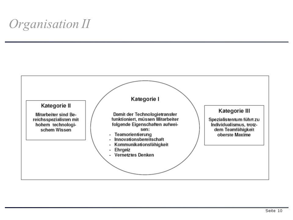 Seite 10 Organisation II