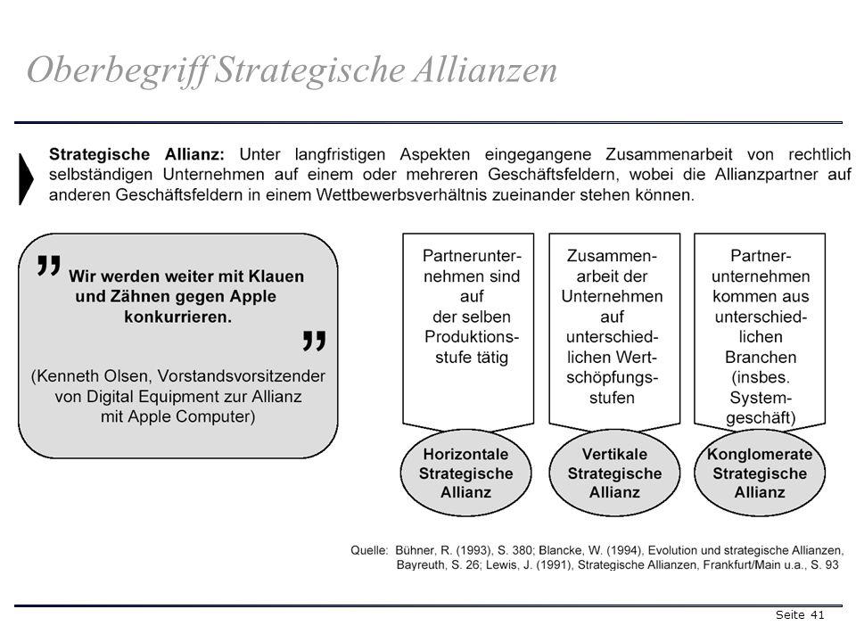 Seite 41 Oberbegriff Strategische Allianzen