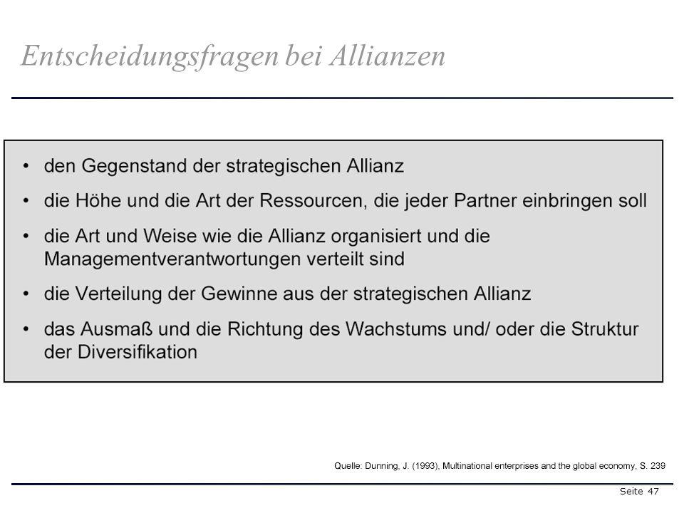 Seite 47 Entscheidungsfragen bei Allianzen