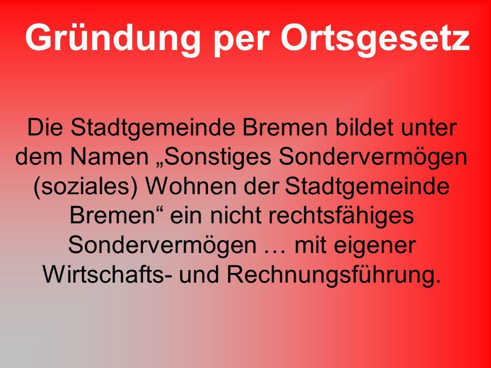Es kann eine jährliche Zuführung in das Sondervermögen aus dem Haushalt der Stadtgemeinde Bremen erfolgen.