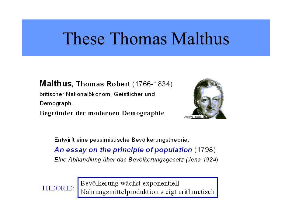 These Thomas Malthus