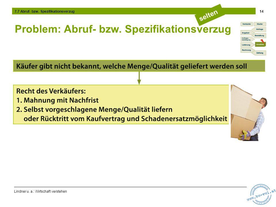 Lindner u.a.: Wirtschaft verstehen 14 7.7 Abruf- bzw.