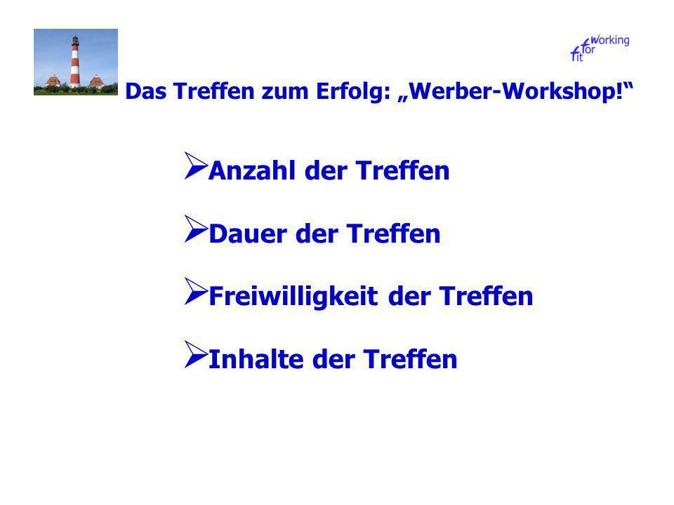 Das Treffen zum Erfolg: Werber-Workshop.