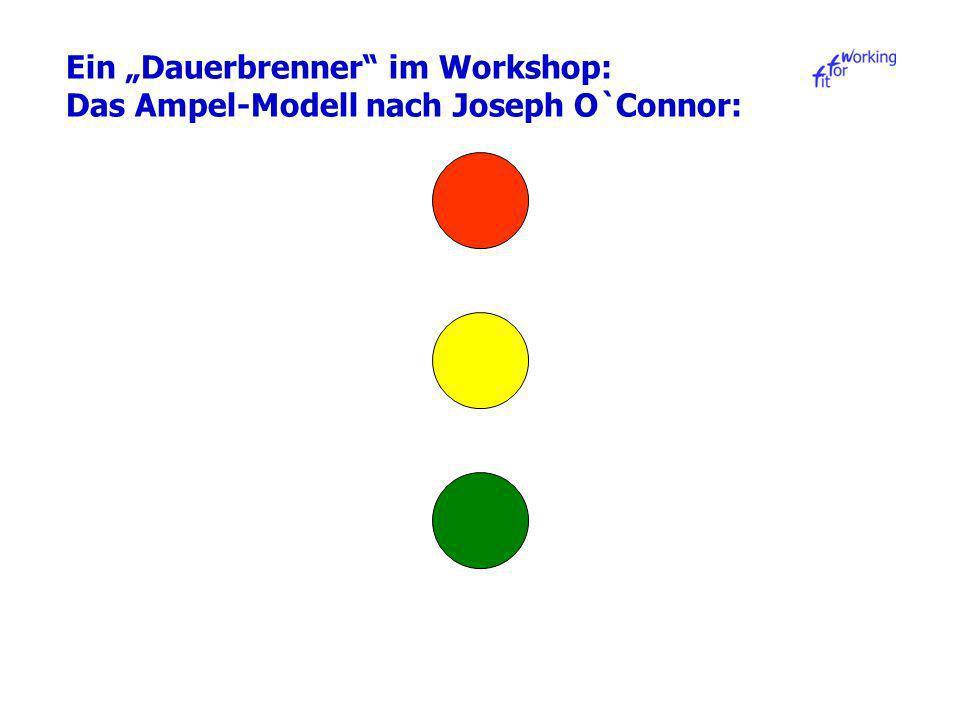 Ein Dauerbrenner im Workshop: Das Ampel-Modell nach Joseph O`Connor: