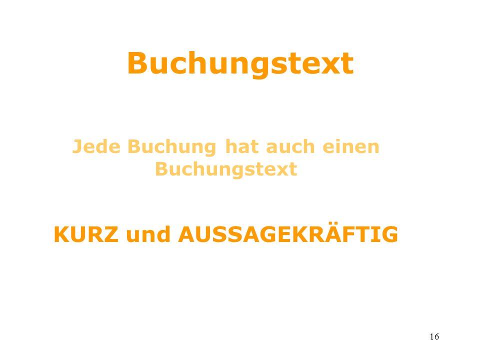 15 Buchungssätze Soll / Haben Kassa / Bank sprich Kassa an Bank