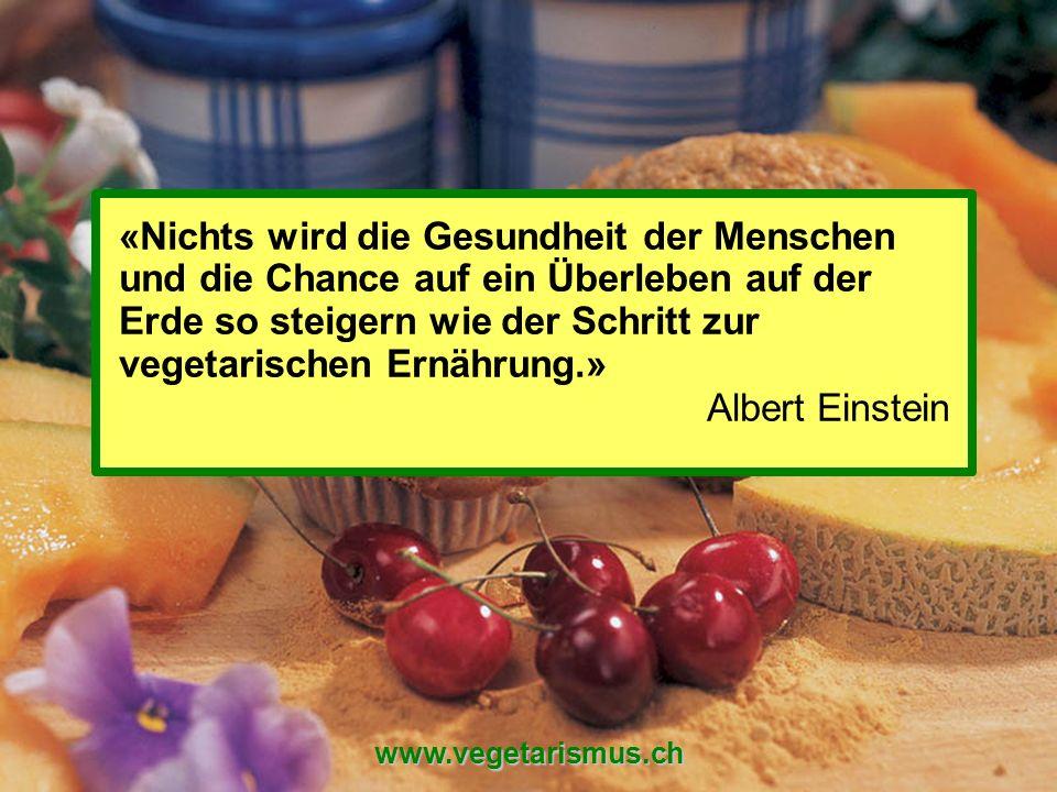 Schweizerische Vereinigung für Vegetarismus (SVV) www.vegetarismus.ch «Nichts wird die Gesundheit der Menschen und die Chance auf ein Überleben auf de