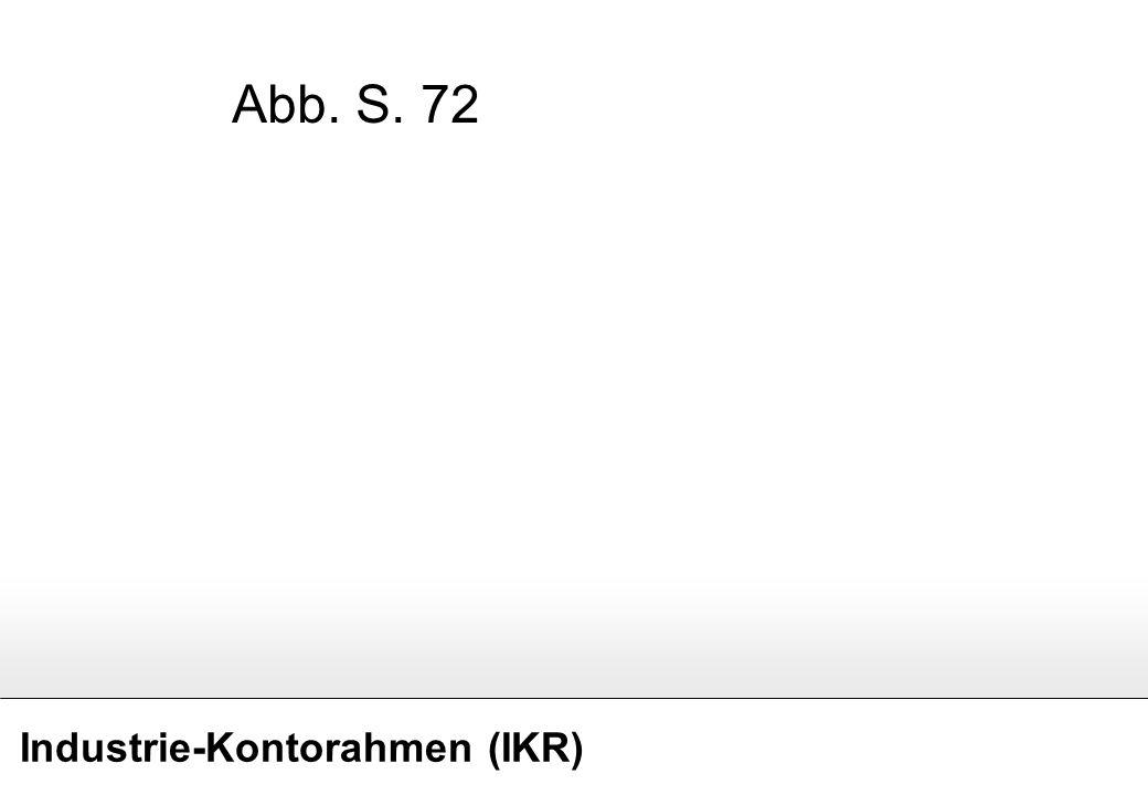 Industrie-Kontorahmen (IKR) Abb. S. 72