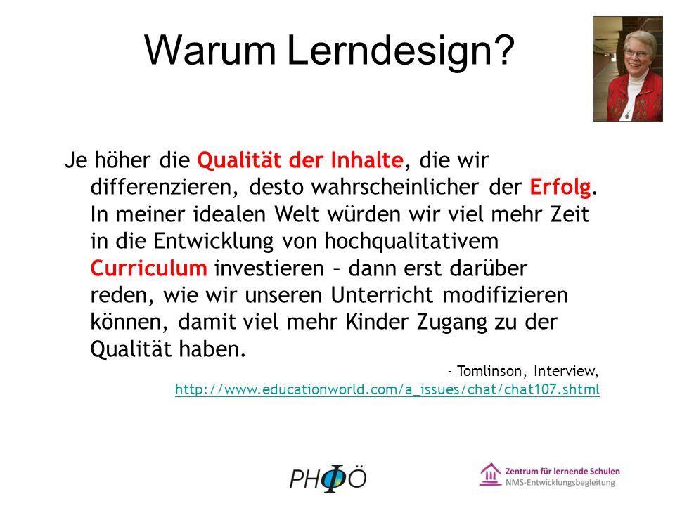 Warum Lerndesign.