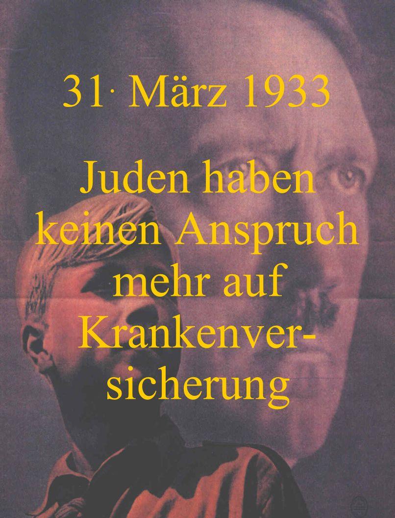 1. April 1933 Unterrichts- verbot für jüdische Lehrer an öffentlichen Schulen