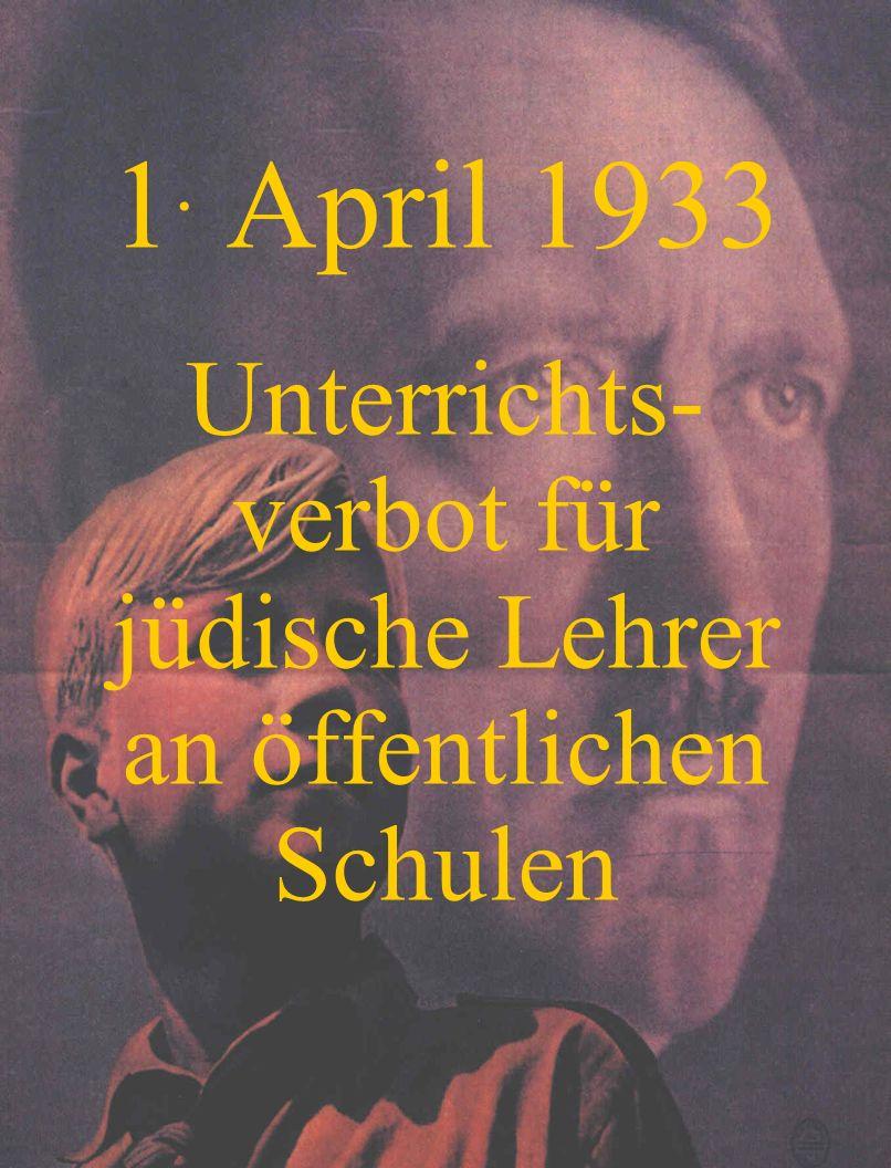 April 1933 Arische und Nichtarische Kinder dürfen nicht mehr miteinander spielen