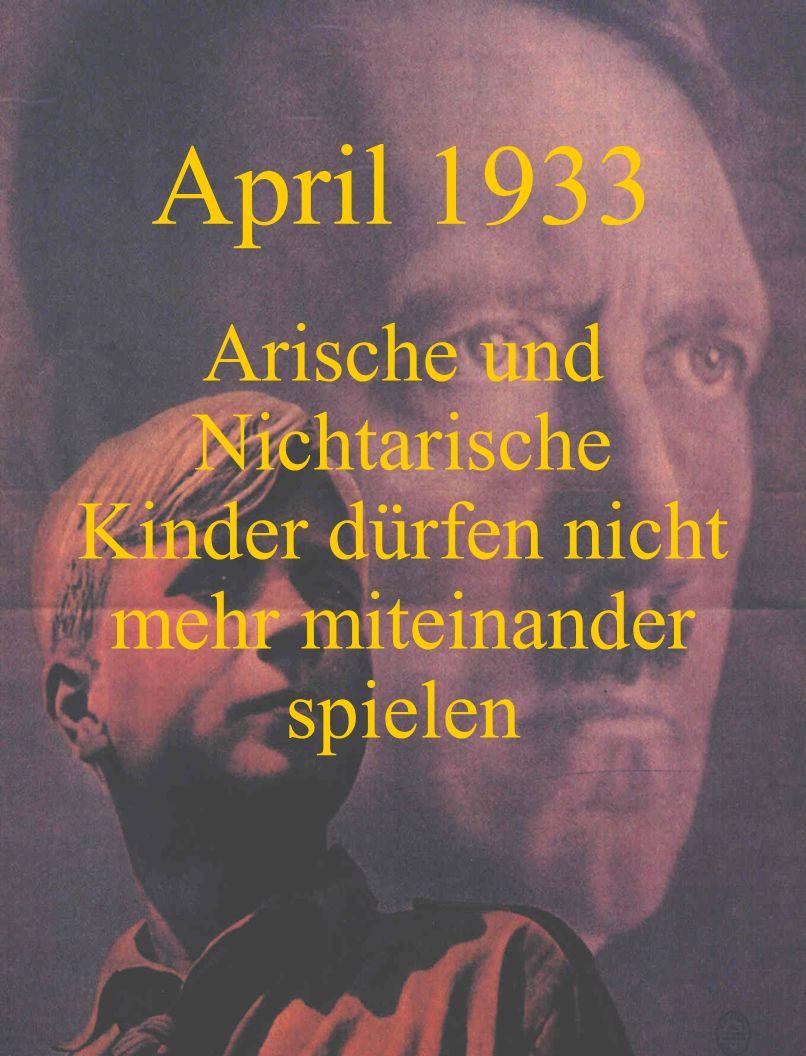 7. April 1933 Jüdische Beamten wurden vom öffentlichen Dienst entlassen