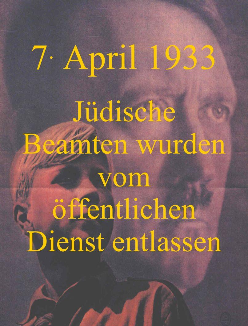 25. April 1933 Juden wurden von Sport- und Turnvereinen ausgeschlossen