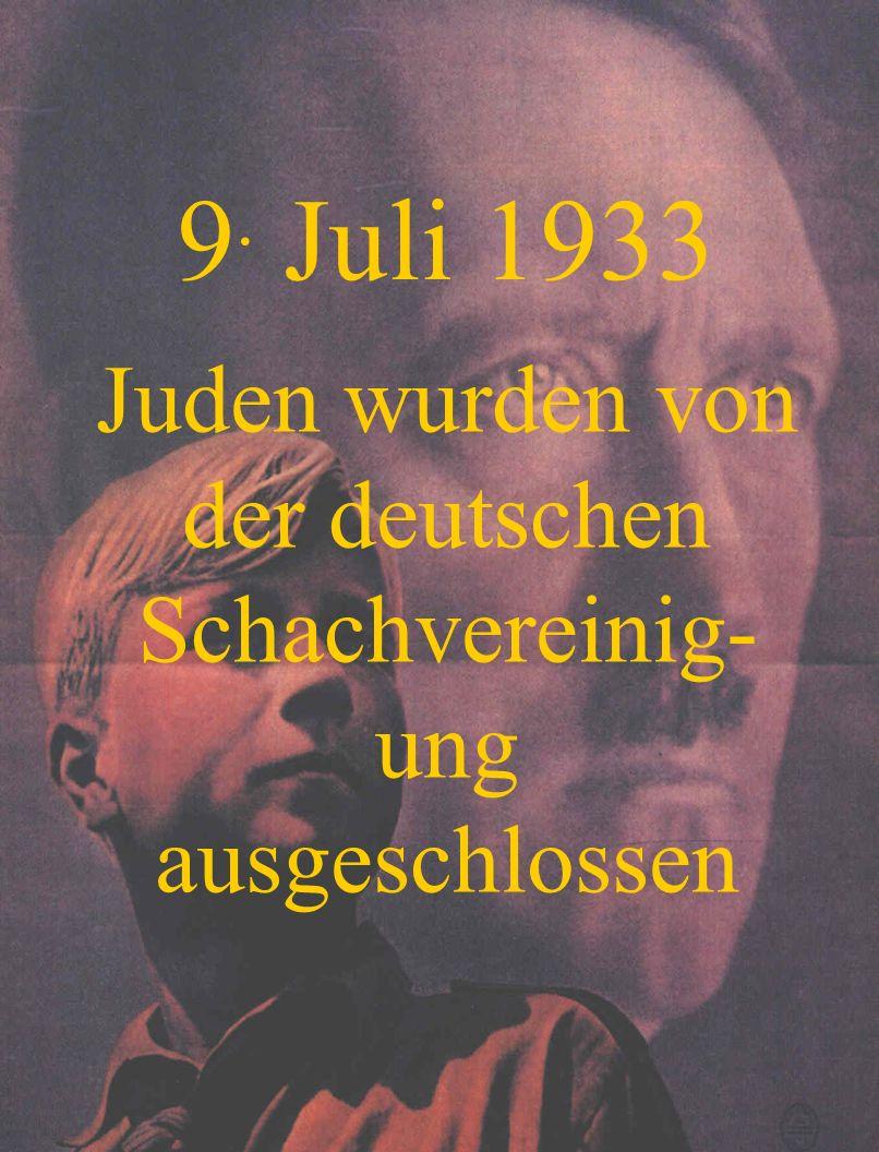 16. August 1933 Juden wurden von Chören ausgeschlossen
