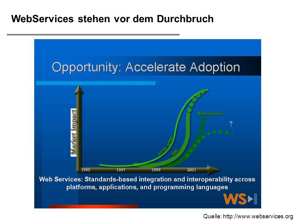 H. Österle / Seite 16 IWI-HSG WebServices stehen vor dem Durchbruch Quelle: http://www.webservices.org