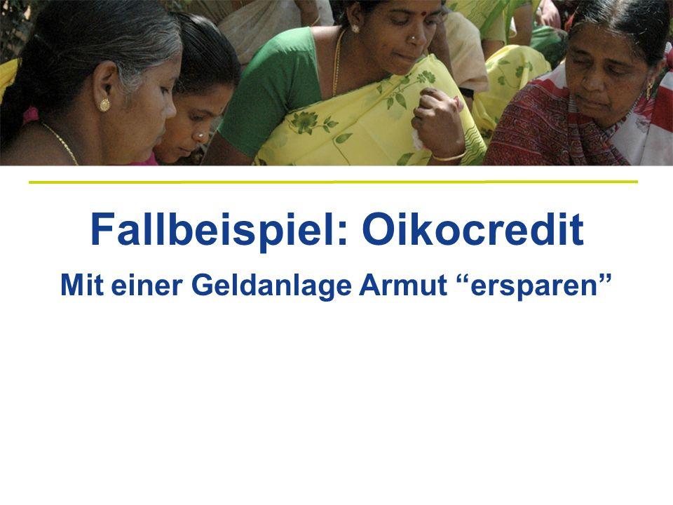 Beispiele für die Verwendung von Mikrokrediten