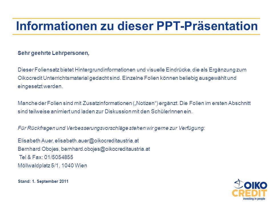 Informationen zu dieser PPT-Präsentation Sehr geehrte Lehrpersonen, Dieser Foliensatz bietet Hintergrundinformationen und visuelle Eindrücke, die als