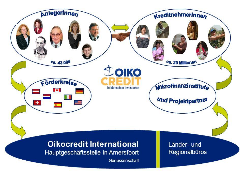 Oikocredit International Hauptgeschäftsstelle in Amersfoort Genossenschaft Länder- und Regionalbüros
