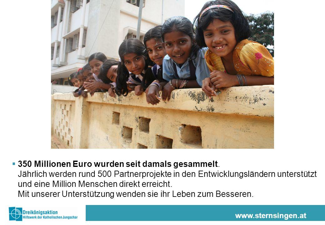 www.sternsingen.at Zum Beispiel in Kenia: 60.000 Kinder leben in Nairobi auf der Straße.