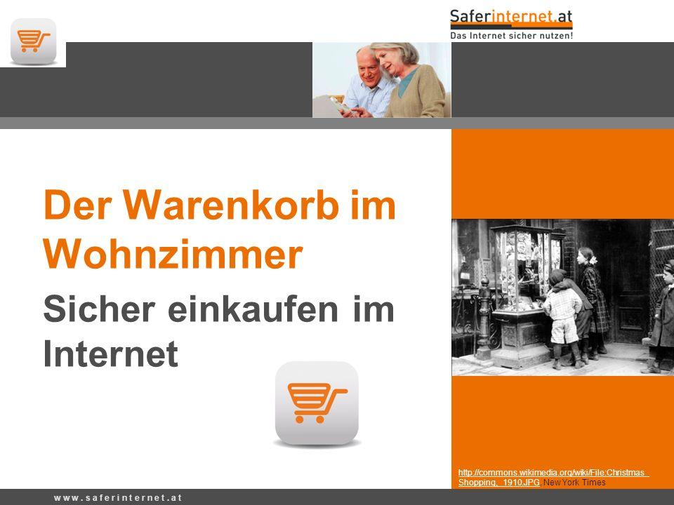 http://commons.wikimedia.org/wiki/File:Christmas_ Shopping,_1910.JPG, New York Times Der Warenkorb im Wohnzimmer Sicher einkaufen im Internet w w w.