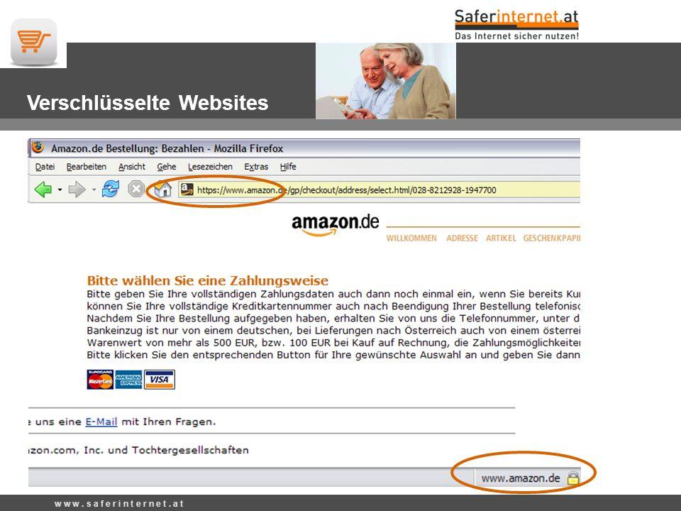 w w w. s a f e r i n t e r n e t. a t Verschlüsselte Websites