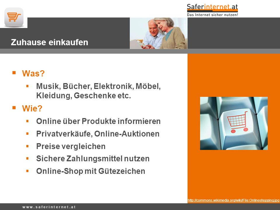 http://commons.wikimedia.org/wiki/File:Onlineshopping.jpg Zuhause einkaufen Was.