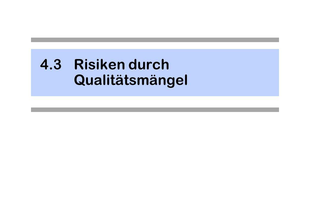 4.3Risiken durch Qualitätsmängel