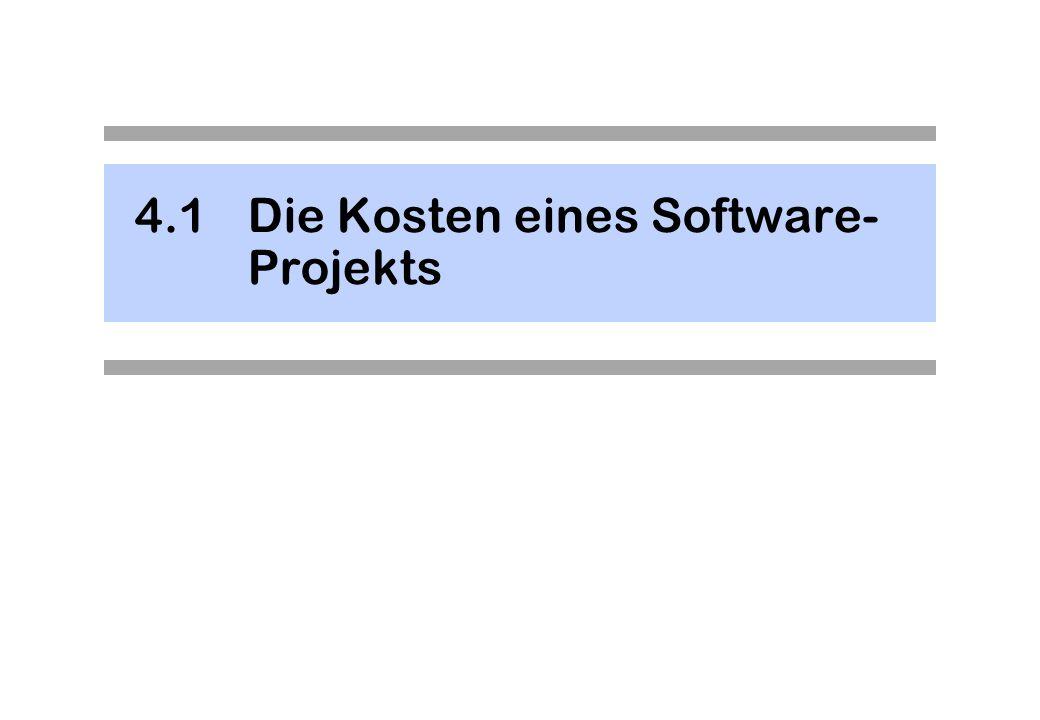 4.1Die Kosten eines Software- Projekts