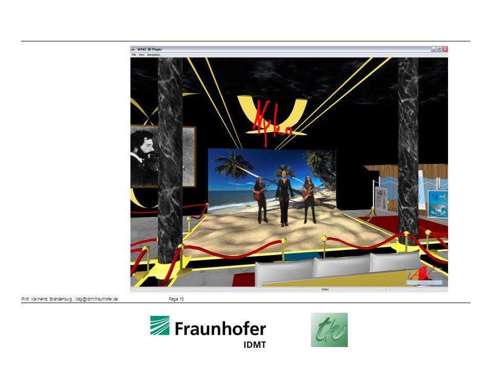 Prof. Karlheinz Brandenburg, bdg@idmt.fraunhofer.de Page 13