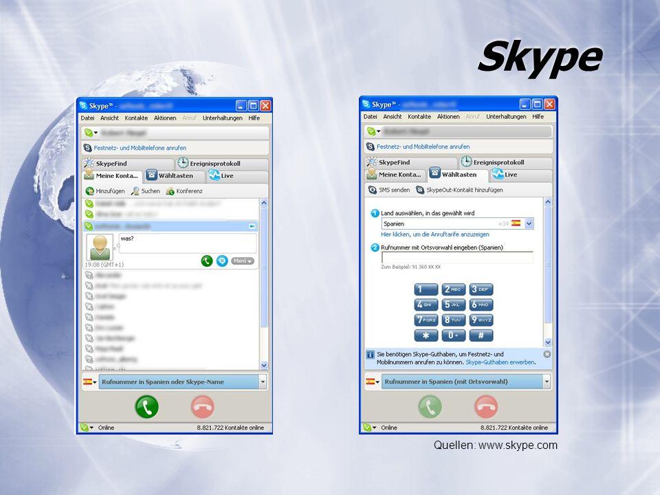 Skype Quellen: www.skype.com