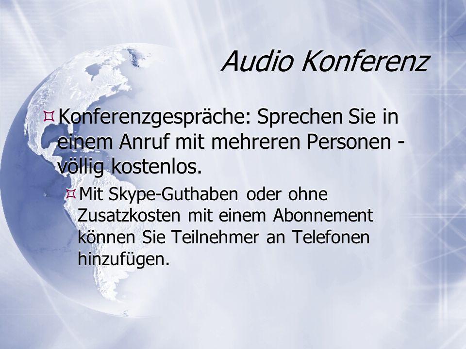 Audio Konferenz Konferenzgespräche: Sprechen Sie in einem Anruf mit mehreren Personen - völlig kostenlos.