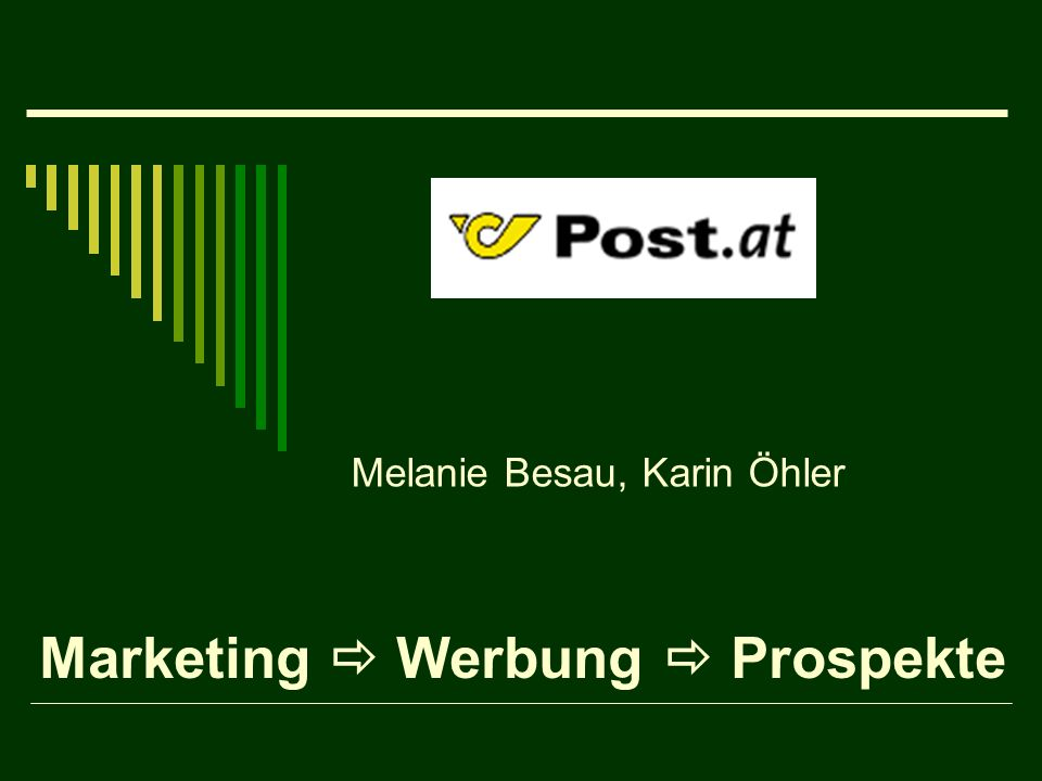 Marketing Werbung Prospekte Melanie Besau, Karin Öhler