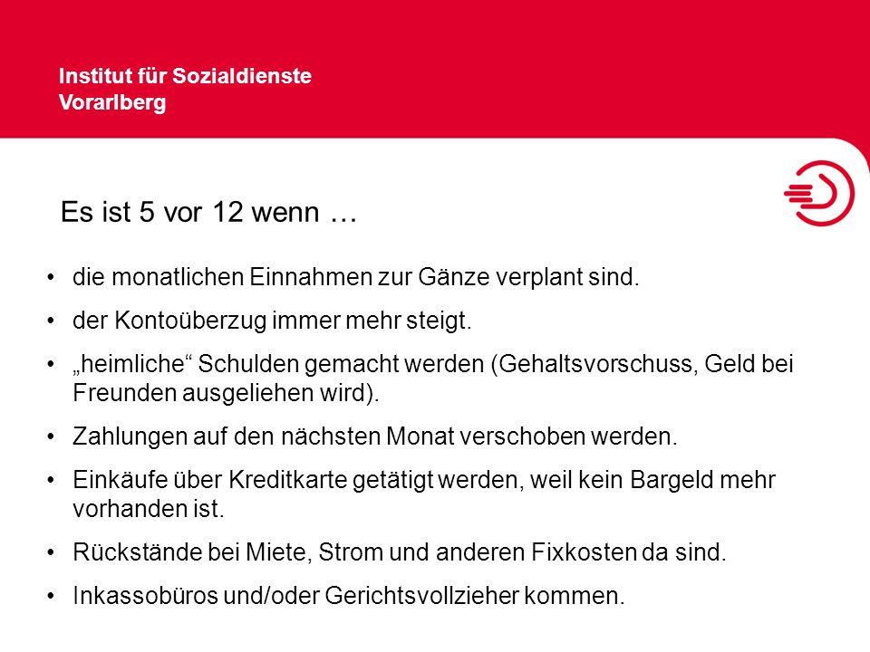 Institut für Sozialdienste Vorarlberg Tipps … Bankomatkarte Code geheim halten bei Verlust die Karte sofort sperren lassen Regelmäßig Kontoauszüge holen.
