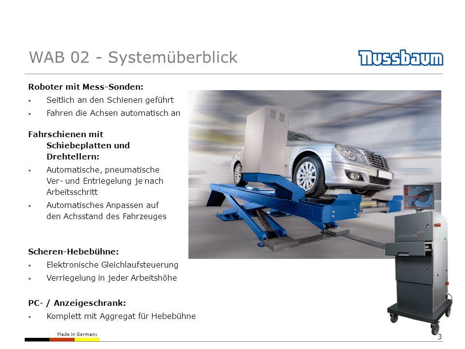 Made in Germany 24 Aktionszeiträume (Im April jede Achsvermessung 9,95 Euro) Gutscheine Packages (Vermessung gratis bei Kauf von 4 Felgen) Präventive Fahrwerksvermessung kann nur funktionieren, wenn das Thema aktiv vom Team gelebt wird.