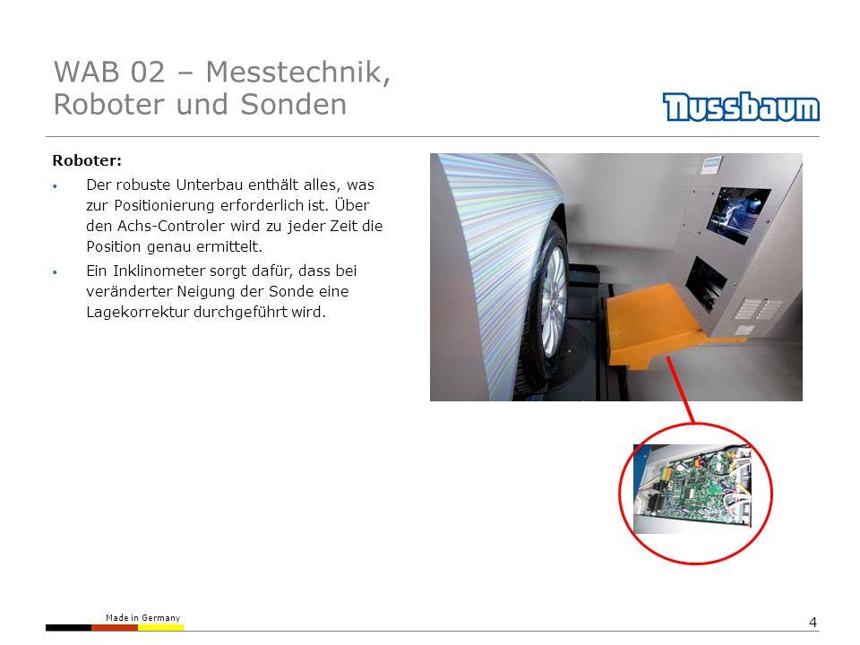 Made in Germany 4 Roboter: Der robuste Unterbau enthält alles, was zur Positionierung erforderlich ist. Über den Achs-Controler wird zu jeder Zeit die