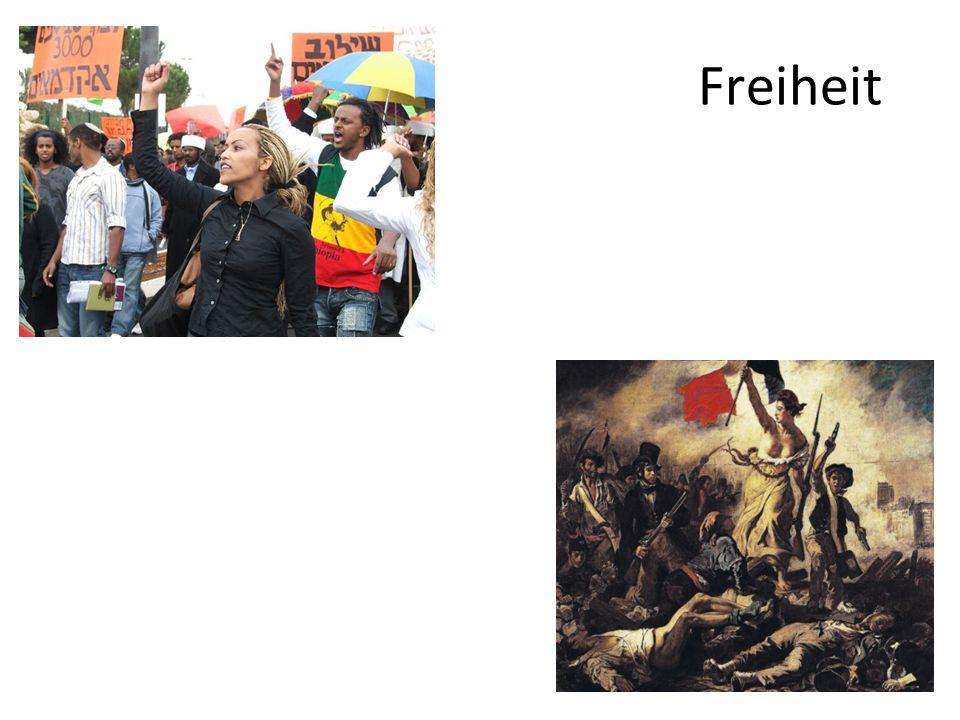 (4) Einschränkung der Freiheit durch äußere Dinge 1.