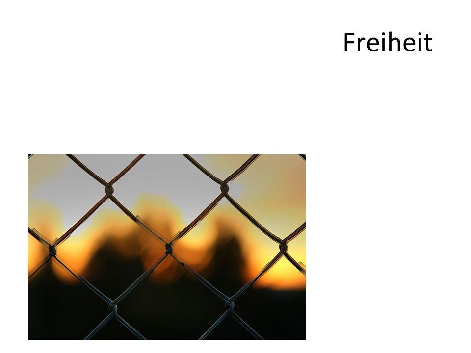 (2) Absolute und relative Freiheit Vorteile, mit der Begrenzung umgehen zu lernen: – Einem wird deutlich, was ihn begrenzt.