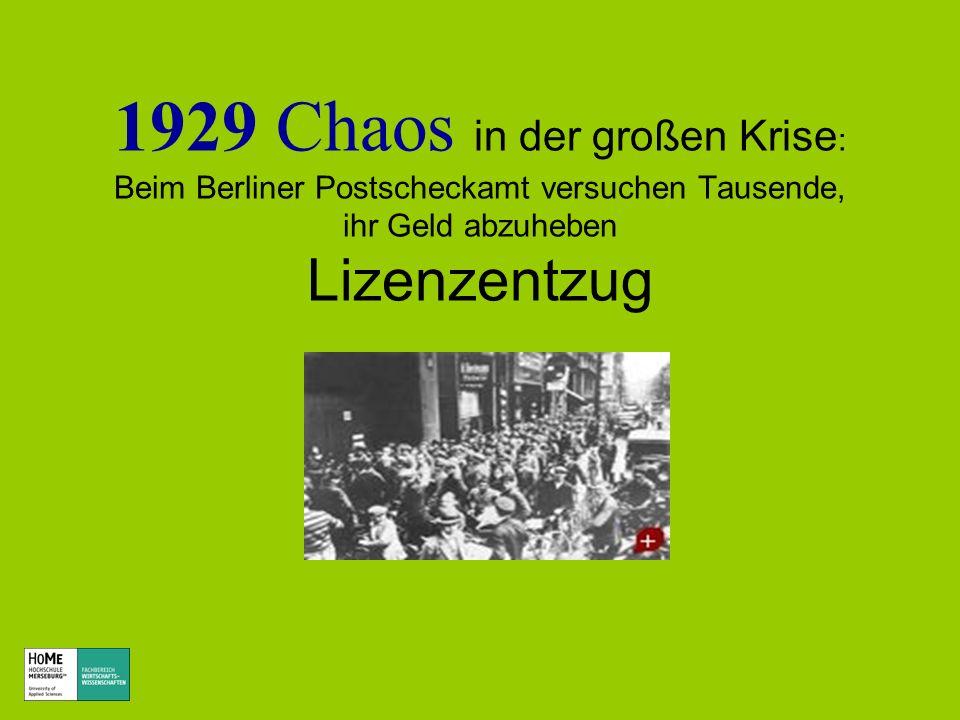 1929 Chaos in der großen Krise : Beim Berliner Postscheckamt versuchen Tausende, ihr Geld abzuheben Lizenzentzug