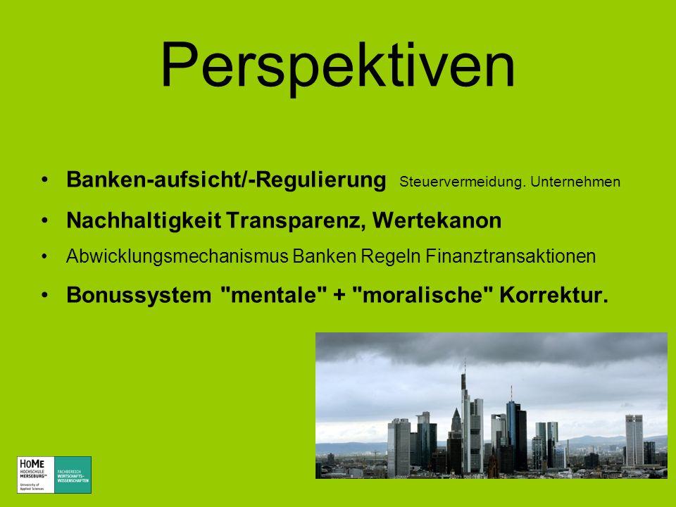 Perspektiven Banken-aufsicht/-Regulierung Steuervermeidung. Unternehmen Nachhaltigkeit Transparenz, Wertekanon Abwicklungsmechanismus Banken Regeln Fi