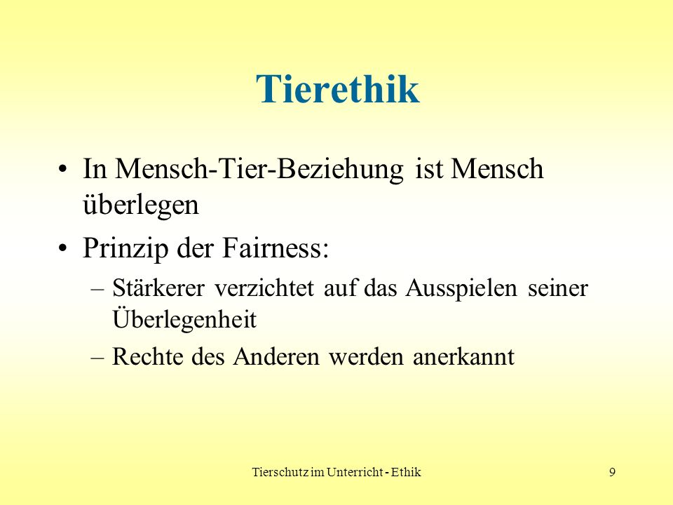 Tierschutz im Unterricht - Ethik20 Vorarlberger Tierschutzgesetz ( Vbg.