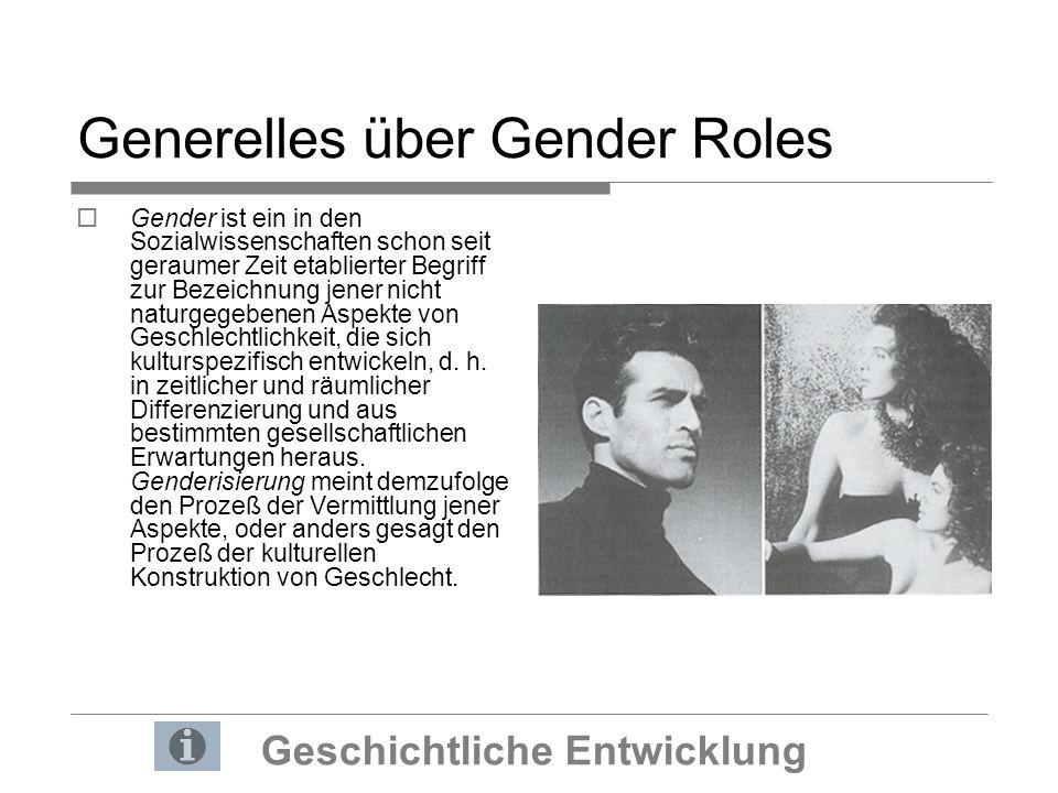 Sozial geprägte Differenzen Gender Roles im Wandel der Zeit Die Rollenbilder haben sich im Laufe der Jahre in der Werbung stark gewandelt