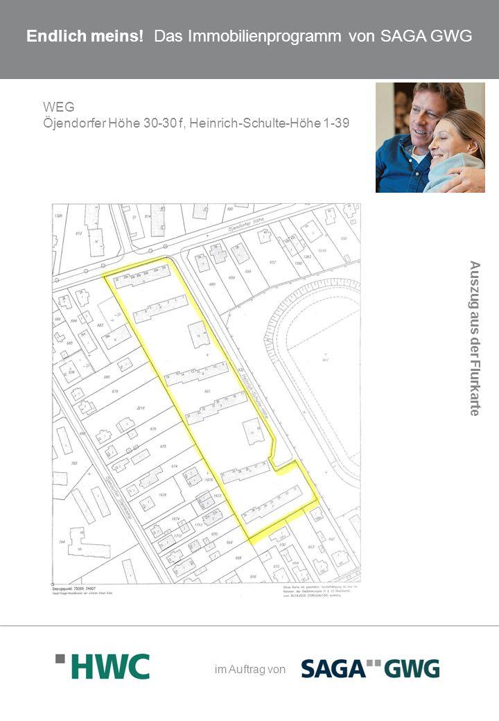 Endlich meins! Das Immobilienprogramm von SAGA GWG WEG Öjendorfer Höhe 30-30 f, Heinrich-Schulte-Höhe 1-39 Auszug aus der Flurkarte im Auftrag von