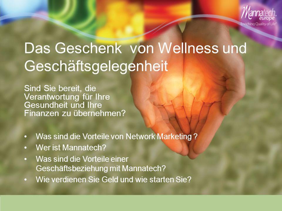 Das Geschenk von Wellness und Geschäftsgelegenheit Sind Sie bereit, die Verantwortung für Ihre Gesundheit und Ihre Finanzen zu übernehmen.