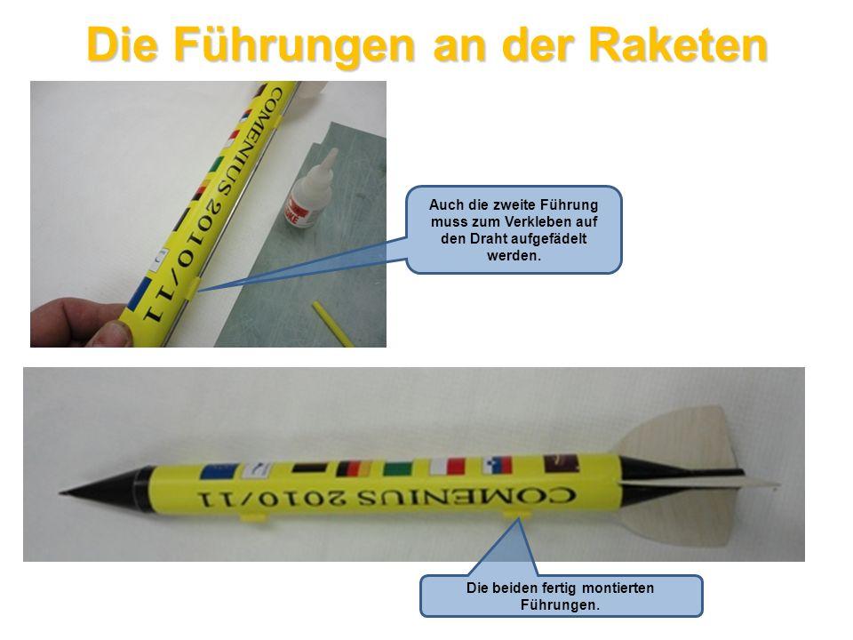 Das Strömerband (Flatterband) Für die Landung des Modells verwenden wir ein Strömerband.